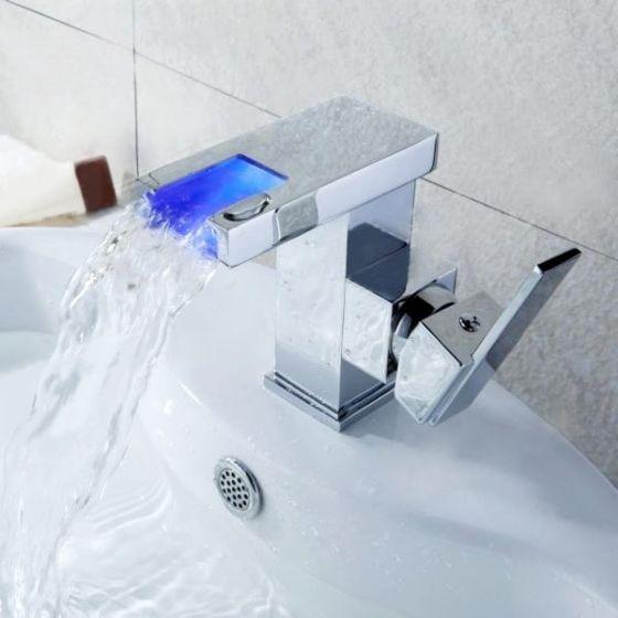 Jednoručna kupaonska slavina s LED Alvito HUGO 4601-P