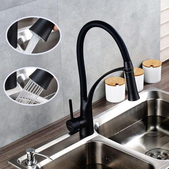 Jednoručna kuhinjska slavina Alvito Selia black 4780BL