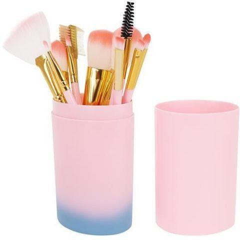 Set četkica za šminku 12-dijelni - ružičasti