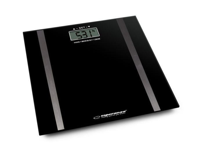 Digitalna kupaonska vaga Agava 180 kg - crna