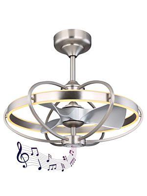 Ventilator sa LED svjetlom i zvučnikom Globo ALMENI 03617