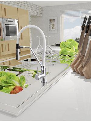 Jednoručna kuhinjska slavina Alvito Magnetic White